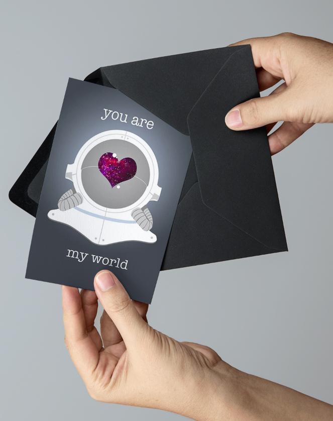 Astronaut Valentine's Day Card, 2013