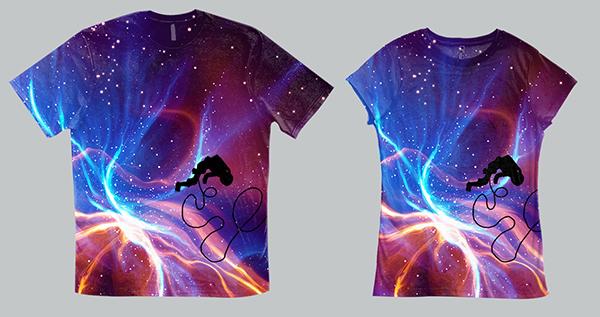 'Nebulaic' T-Shirt Mockup Design & Illustration, 2012