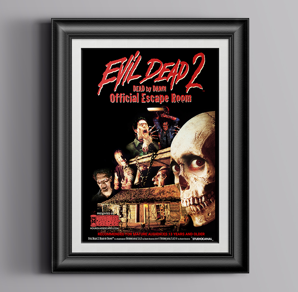 Evil Dead 2™ Escape Room Mockup Poster