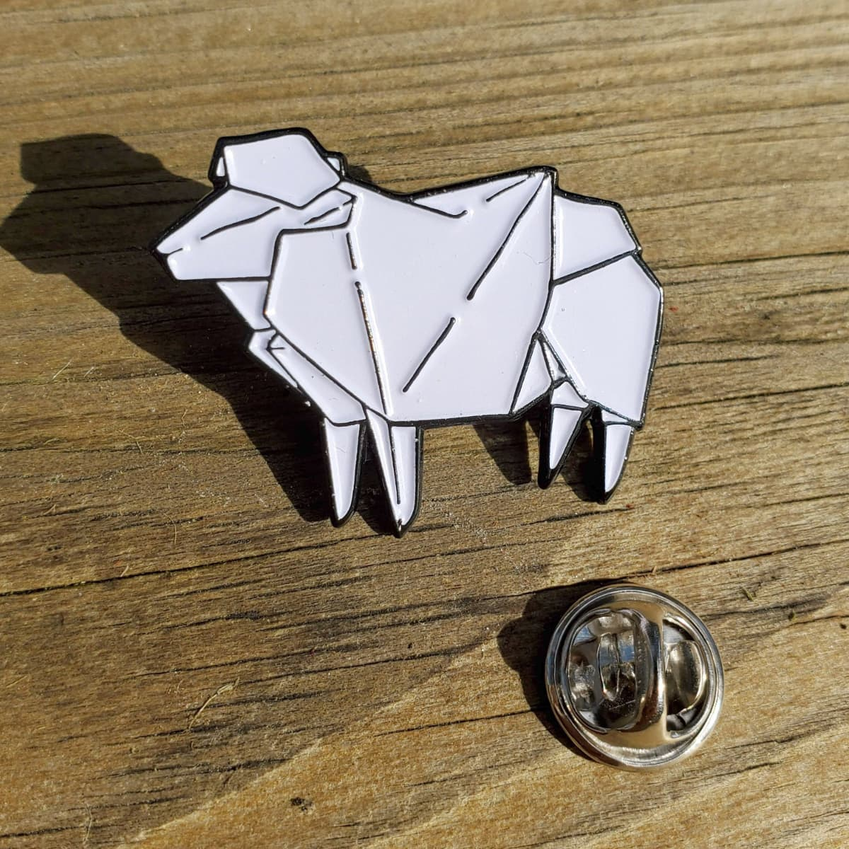 Origami Sheep Enamel Pin by Aimee Cozza